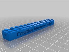 Lego bloquear 3d impresión clase personalizado