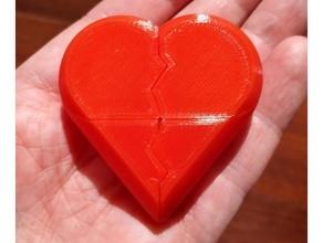 cœur boîte fixé boîte récipient personnalisable personnalisateur cœur paramétrique pré assemblé support Valentin