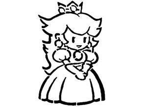 carta pesca stencil Mario nintendo nintendo 3ds nintendo interruttore carta pesca pesca Principessa pesca stencil super Mario super Mario bros