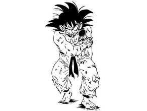 goku stencil 6 anime dbz dragonball dragonball super dragonball dragon ball dragon ball goku injured kakarot manga stencil