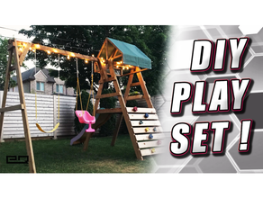 diy swingset playset free plans + anchor driving tool outdoor playground playset swingset toy