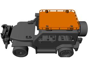 carga estante 3d impresión coche vehiculo Lego técnica microbit rc coche vehiculo robótica vástago