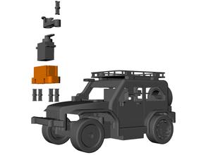 servo soporte 3d impresión coche vehiculo Lego técnica microbit rc coche vehiculo robótica vástago