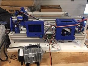 Laser Graveur Luft helfen Slot Räder 500mm Rampen 16+ re arm