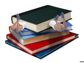 girl book - bookmark lesezeichen