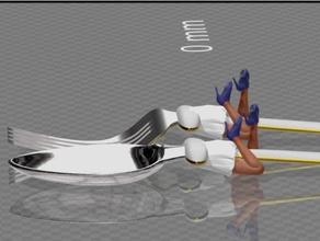 spoon fork girl - edition hannibal filament spool holder fork giraffe girl openforge spoon