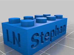 personalizado Lego compatible texto ladrillos Stephan personalizado