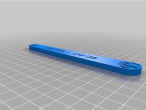 personalizado personalizado llavero proto barra construcción logo personalizado