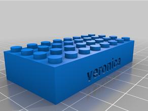 personalizado Lego compatible texto ladrillos