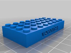 personalizado Lego compatible texto bricks2 personalizado