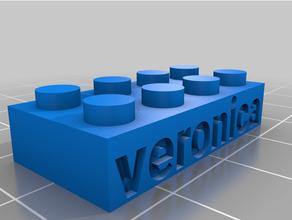 personalizado Lego compatible texto bricks3 personalizado