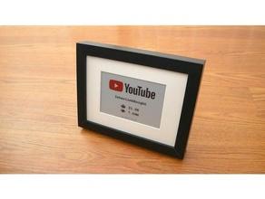 Youtube abbonato contatore arduino canale contatore Schermo Fai ink paper epaper esp32 interlinkknight abbonato iscritti Youtube