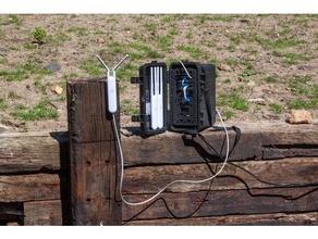 agile accès point antenne Cas gaine engrener mikrotik monter réseau portable grille framboise pi rpi étagère ubiquiti