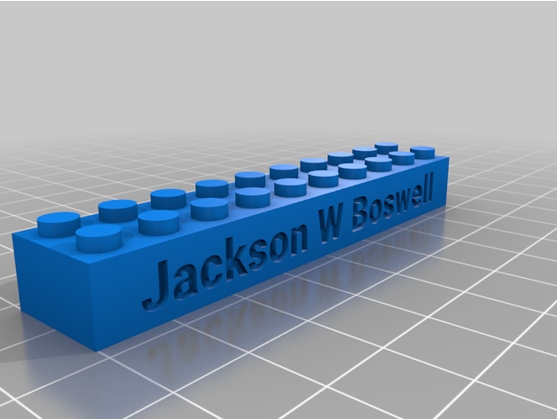 jackson text bricks