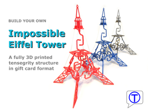 impossible eiffel tower - fully 3d printed tensegrity structure gift card format 3d easy print architecture birthday birthday gift birthday cadeau christmas christmas decoration christmas gift christmas ornament completely printable decoration diy easy print easy print eiffel eiffeltower eiffelturm eiffel tower fully printable geschenk geschenkidee gift gift card supportless tensegrity tensegrity structure eiffel tower tour eiffel tower