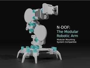 n-dof modular robotic arm arm gopro gopro mount mms modular mounting n-dof ndof nema nema17 nema 17 robot robotic robotic arm robot arm