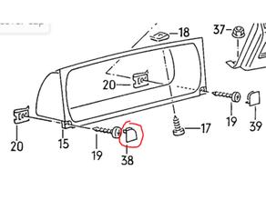 vw corrado left instrument cluster screw cover cap 535 858 507 corrado volkswagen vw corrado