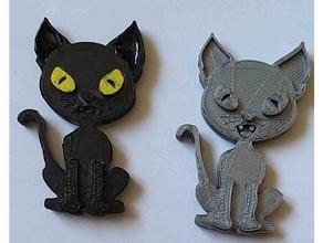 cat fridge magnet black black cat cat fridge fridge-magnet fridge magnet fridge magnets magnet magnetic refrigerator magnet
