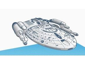 star trek voyager intrepid class gunship alien spaceship intrepid rpg rpg prop sci-fi science fiction scifi spaceship spaceships starship starships startrek startrekvoyager star trek star trek voyager tabletop rpg trek uss voyager voyager voyager class