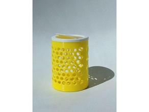 simple pattern bin lid bin bin cover bin lid garbage bin lid print-in-place cover print-in-place lid trash trash bin trash trash lid trash cover
