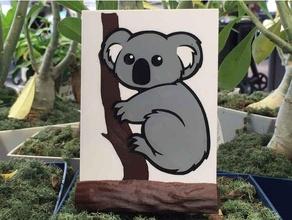 koala silhouette asllexicon australia australian australian animal bear colorized colorized silhouette koala koala bear koala silhouette koalas meshmixer olsen prusa silhouette silhouettes star labs 3d starlabs3d tasmania tasmanian tinkercad todd olsen wedding gift