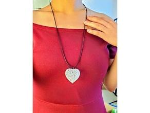 mathematical art delaunay triangulation heart shape earrings necklace 3d version decoration earring heart math art necklace