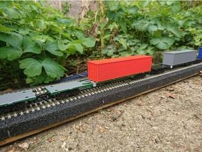 oo gauge intermodal fsa fta iso container wagon hooo gauge iso container model train model trains oo gauge train