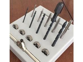 metric - drill tap thread tool holder 3 mm tools 4 mm tools 5 mm tools bit holder bits dewalt drill tap drill bit holder drill bit metric drill metric tap metric tap drill printer tools tap die tool holder tool rack