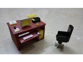 office desk chair 3d models chair  decor decoration desk desktop desk toy display stand dollhouse doll furniture doll house funny decor lady mini miniature miniatures model bedside table office office chair office equipment office stationary office supplies office tool official replica replicas table toys