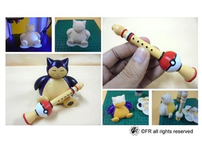 pokemon snorlax & pokeflute & anycubic anycubic i3 mega flute pokemon pokemongo pokemons pokemon figures pokemon pokemon toy snorlax solidworks