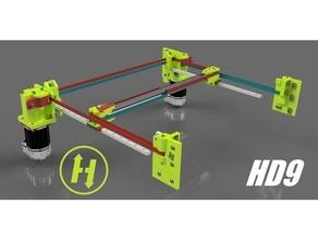 hevort xyhd9 - xy axis heavy duty 9mm belt gantry hevort 3d diy printer 3d printer corexy core xy gantry hevort hypercube linear rail mgn12 rail servo