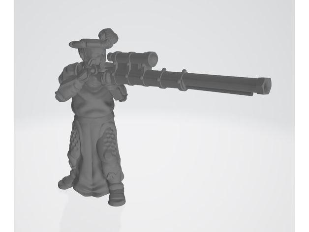 human armoured handgunner