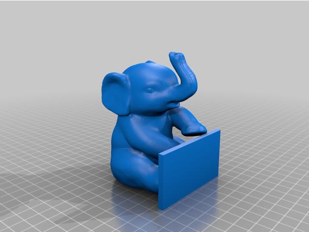 sitting elephant holding