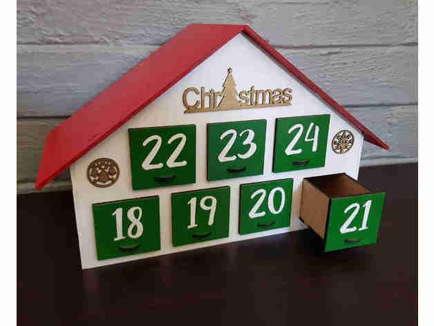 christmas advent box hous