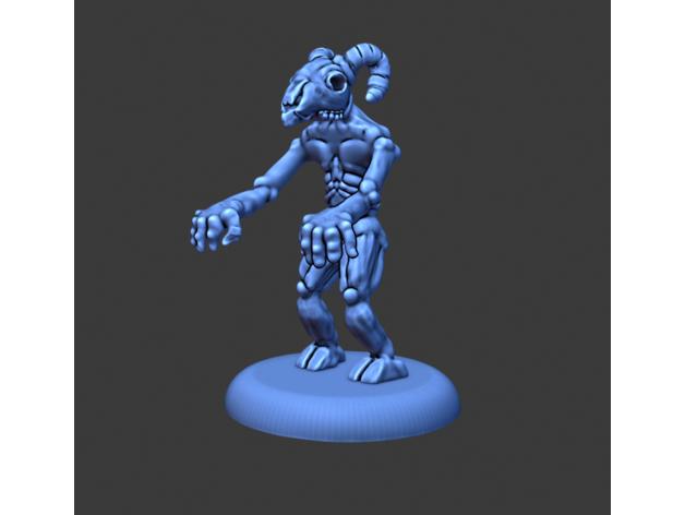 blue demon halloween mont