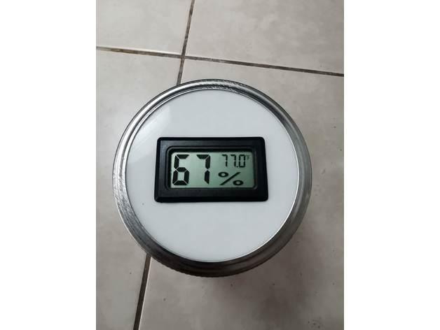 mason jar hygrometer lid