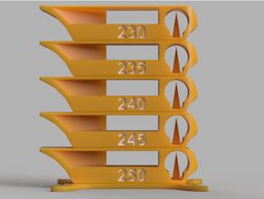 temperature tower 230-250 temperature temperature test temperature tower test test print