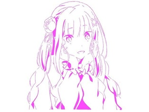 emilia stencil 2 anime emilia isekai isekai quartet manga rezero  stencil
