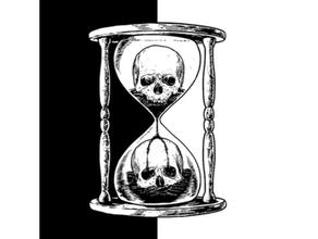 unus annus hourglass lithophane memento mori unus annus