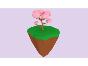 cherry blossom floating island blossom cherry cherry blossom cherry blossoms floating floating island floating shelf island poly lowpoligon lowpoly poligon poligon poly