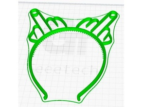 middle finger diadem headband band diadem finger head headband middle middle finger