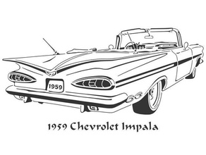 1959 chevrolet impala stencil 1959 car chevrolet chevy impala impala stencil