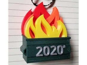 2020 dumpster ornament - multicolor 2020 christmas christmas ornament dumpster dumpster multicolor