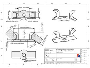 parametric folding prop insert aeronaut aeronaut prop blade stopper created freecad folding prop folding propeller folding pusher prop freecad mayatech mayatech folding prop parametric propeller prop