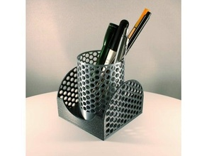 honeycomb pencil holder + memo storage box - set desk desk organizer memo memo box memo storage box office equipment office organization office supplies organization organizer pencil holder pen holder slimprint sticky notes holder sticky note holder sticky note tray