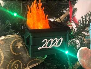 2020 dumpster christmas tree ornament 2020 christmas christmas decoration christmas ornament dumpster dumpster