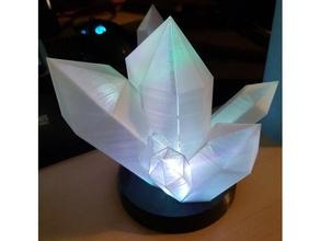 glowing crystal lamp crystal crystals glow glowing glowing crystal glowing light lamp led led light light rgb tealight tealight holder