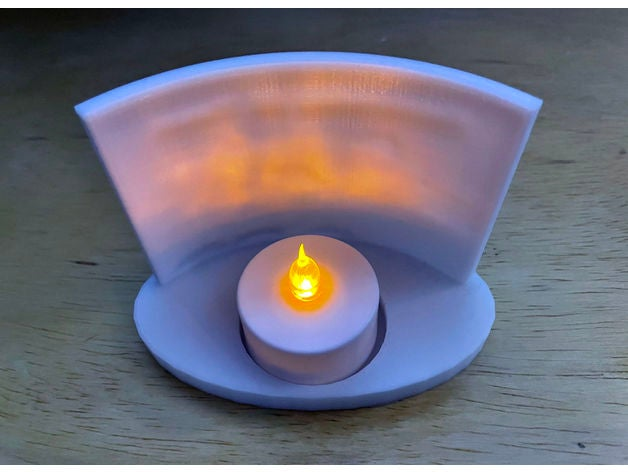 tealight base lithophane