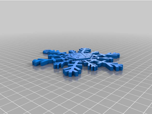 d20 snowflake tree orname