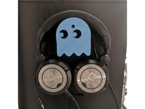 pacman headphone wall mount headphone headphones headphone holder pac-man pacman pacman ghost